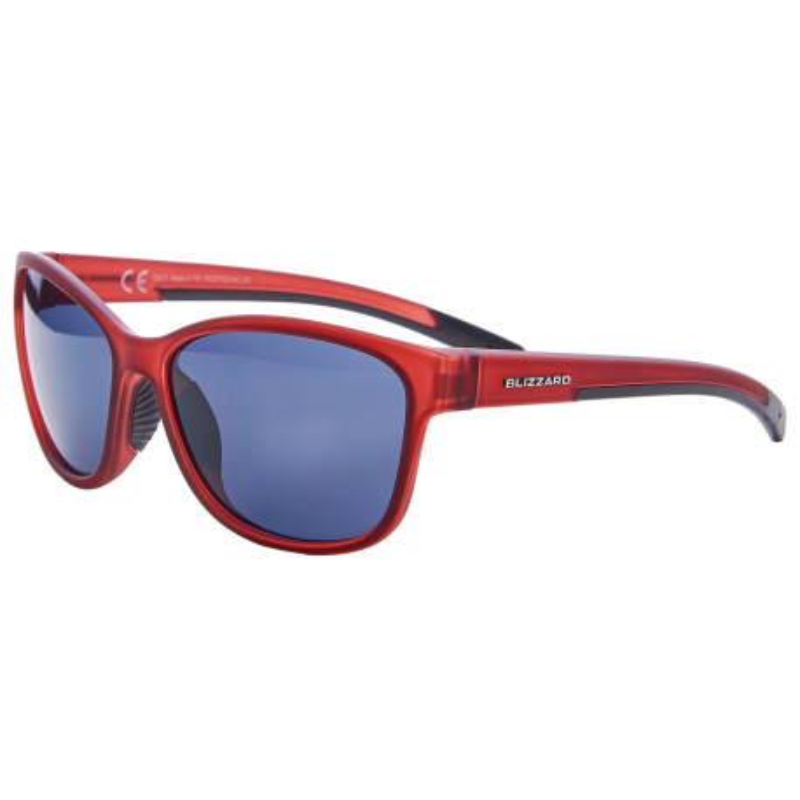Športové okuliare BLIZZARD-Sun glasses POLSF702140, rubber trans. dark red, 65-16-135
