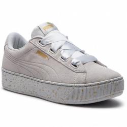 Dámská vycházková obuv PUMA-Vikky Platform Ribbon glacier gray / gray / gold