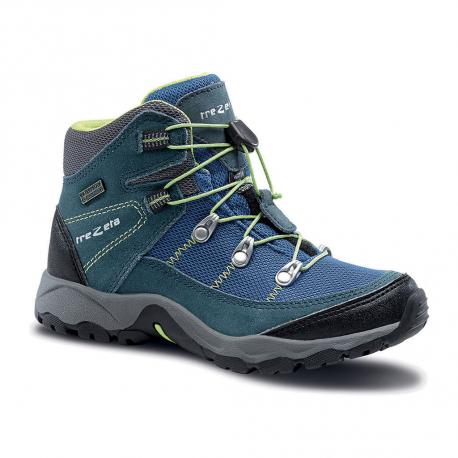 Detská turistická obuv vysoká TREZETA-TWISTER WP KID BLUE
