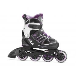 Dievčenské kolieskové korčule FILA SKATES-X-ONE G BLACK/PINK/MAGENTA