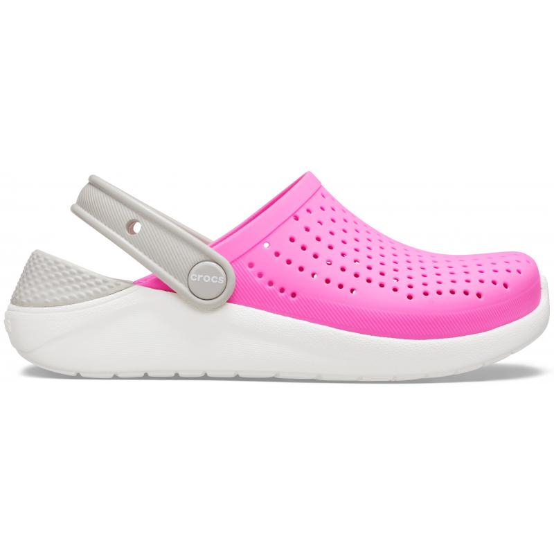 Juniorské kroksy (rekreačná obuv) CROCS-LiteRide Clog K electric pink/white -