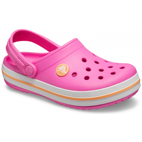 Detské kroksy (rekreačná obuv) CROCS-Crocband Clog K electric pink/cantaloupe