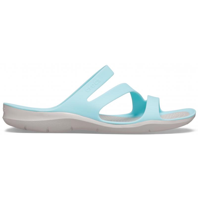Dámska obuv k bazénu (plážová obuv) CROCS-Swiftwater Sandal W ice blue/pearl white -