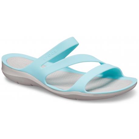 Dámska obuv k bazénu (plážová obuv) CROCS-Swiftwater Sandal W ice blue/pearl white