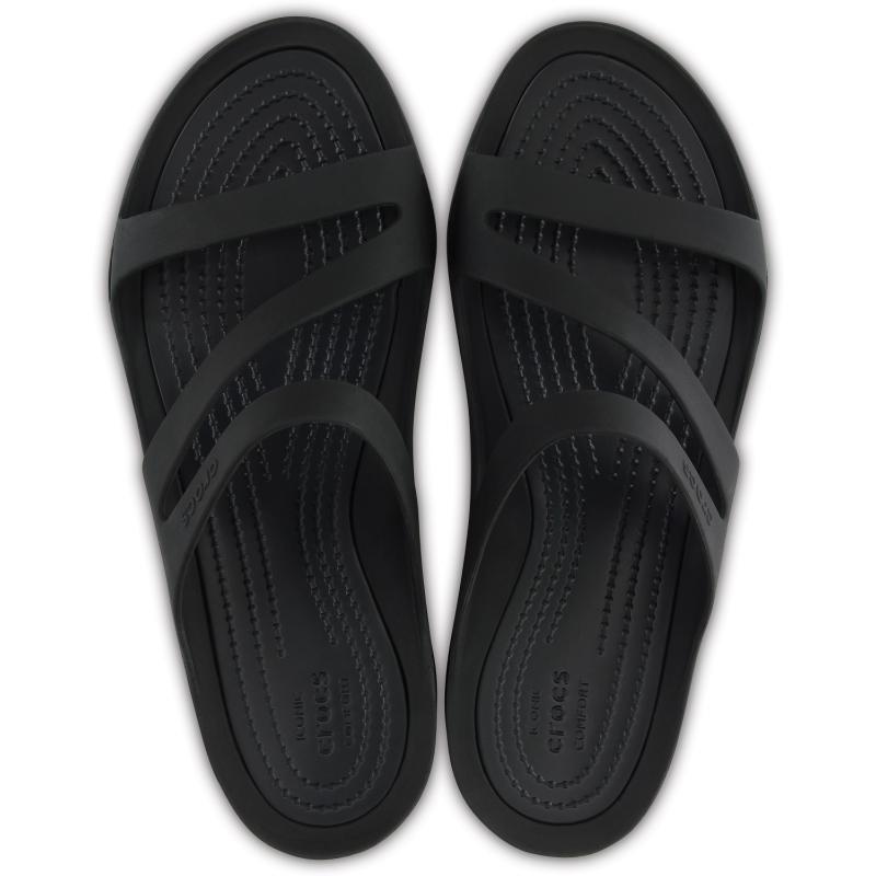 Dámska obuv k bazénu (plážová obuv) CROCS-Swiftwater Sandal W black/black -
