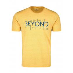 Pánske tričko s krátkym rukávom VOLCANO-T-BEYOND-YELLOW MEL