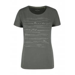 Dámske tričko s krátkym rukávom VOLCANO-T-DOTS-OLIVE