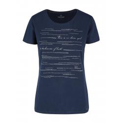 Dámske tričko s krátkym rukávom VOLCANO-T-DOTS-NAVY
