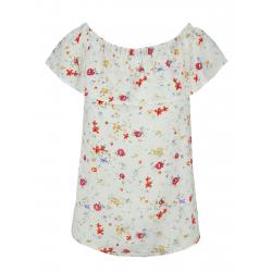 Dámske tričko s krátkym rukávom VOLCANO-K-JULIE-OFF WHITE