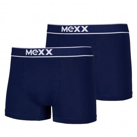 Pánske boxerky MEXX-Retro Boxersshorts Navy Mens Boxed 2-Pack-BLUE