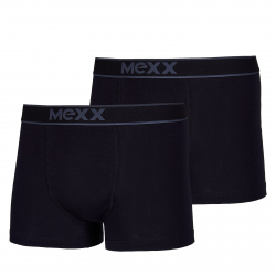 Pánské boxerky MEXX-Retro Boxersshorts Black Mens Boxed 2-Pack-BLACK / BLACK