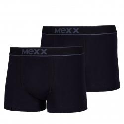 Pánske boxerky MEXX-Retro Boxersshorts Black Mens Boxed 2-Pack-BLACK/BLACK
