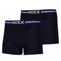 Pánske boxerky MEXX-Retro Boxersshorts Regular Black Mens Boxed 2-Pack-BLACK/WH -