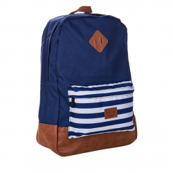 Ruksak NEW REBELS-Heaven Navy front blue stripe 23L