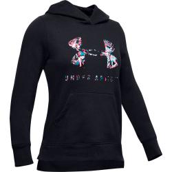 Dievčenská tréningová mikina UNDER ARMOUR-Rival Print Fill Logo Hoodie-BLK