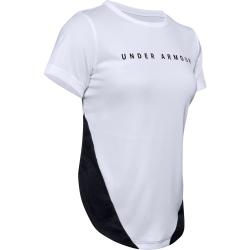 Dámske tréningové tričko s krátkym rukávom UNDER ARMOUR-UA HG Armour Sport Mesh Panel SS-WHT