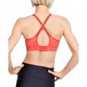 Dámska tréningová športová podprsenka UNDER ARMOUR-UA Infinity Mid Heather Bra-RED -