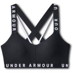 Dámska tréningová športová podprsenka UNDER ARMOUR-Wordmark Strappy Sportlette -BLK