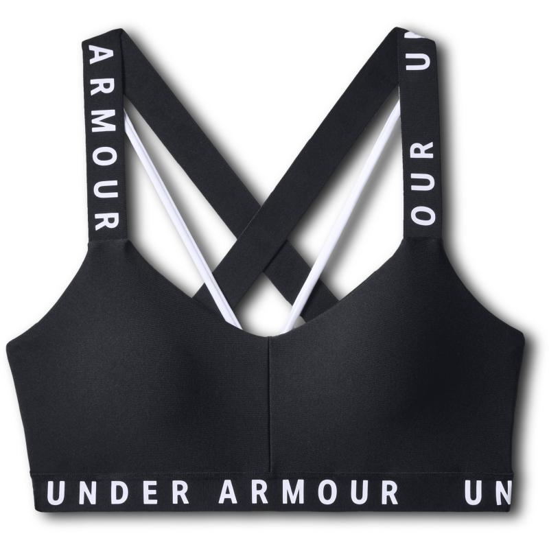 Dámská tréninková sportovní podprsenka UNDER ARMOUR-Wordmark Strappy Sportlette -BLK -