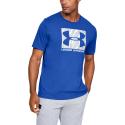 Pánske tréningové tričko s krátkym rukávom UNDER ARMOUR-UA CAMO BOXED LOGO SS-BLU -