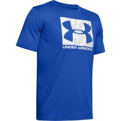 Pánske tréningové tričko s krátkym rukávom UNDER ARMOUR-UA CAMO BOXED LOGO SS-BLU