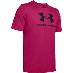 Pánske tréningové tričko s krátkym rukávom UNDER ARMOUR-SPORTSTYLE LOGO SS-PNK
