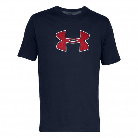Pánske tréningové tričko s krátkym rukávom UNDER ARMOUR-UA BIG LOGO SS-NVY