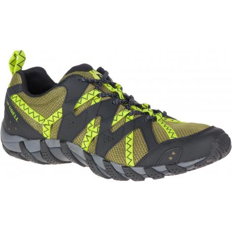 Pánska turistická obuv nízka MERRELL-WATERPRO MAIPO 2 olive/lime