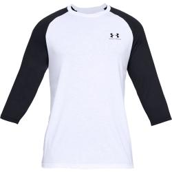 Pánske tréningové tričko s dlhým rukávom UNDER ARMOUR-SPORTSTYLE LEFT CHEST 3/4 TEE
