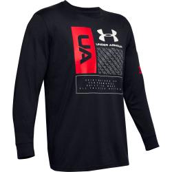 Pánske tréningové tričko s dlhým rukávom UNDER ARMOUR-UA MULTI LOGO LS-BLK