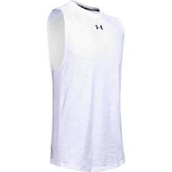 Pánske tréningové tričko bez rukávov UNDER ARMOUR-Charged Cotton Tank-WHT