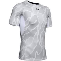 Pánske tréningové tričko s krátkym rukávom UNDER ARMOUR-UA HG ARMOUR SS NOV-WHT