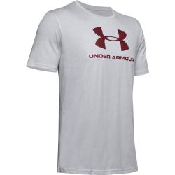 Pánske tréningové tričko s krátkym rukávom UNDER ARMOUR-SPORTSTYLE LOGO SS-GRY-014