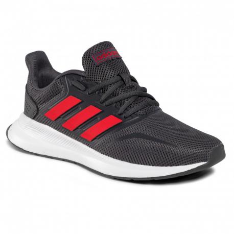 Pánska športová obuv (tréningová) ADIDAS-Runfalcon gresix/scarle/ftwwht