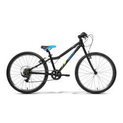 Juniorský bicykel AMULET-TOMCAT 24 ČERNO MODRÝ