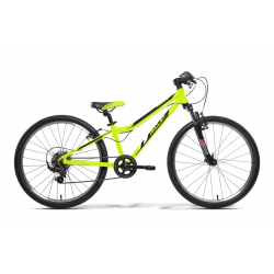 Juniorský bicykel AMULET-TEAM 24 ZELENÝ