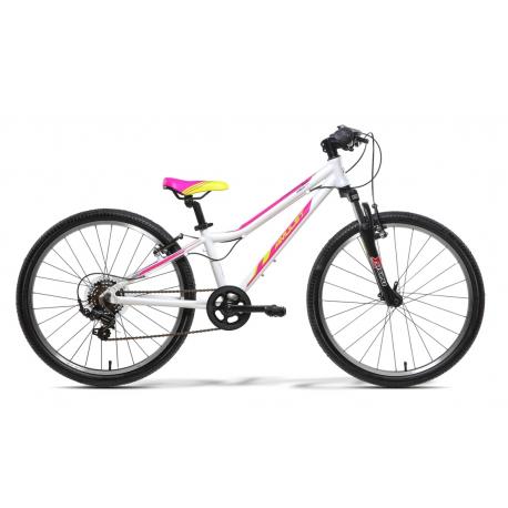 Juniorský bicykel AMULET-TEAM 24 BÍLÝ