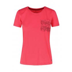 Dámske tričko s krátkym rukávom VOLCANO-T-MERIL-CORAL