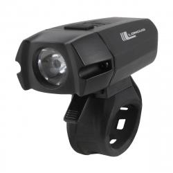 Cyklistické svetlo LONGUS-Svetlo XPG 400 predné LED/6f USB, 400lm, čierne