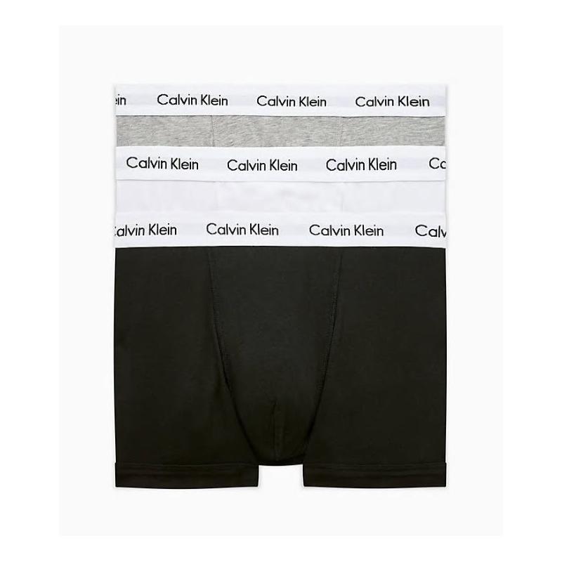 Pánske boxerky CALVIN KLEIN-CK LOW RISE TRUNKS-3 pack-Black, White, Grey -