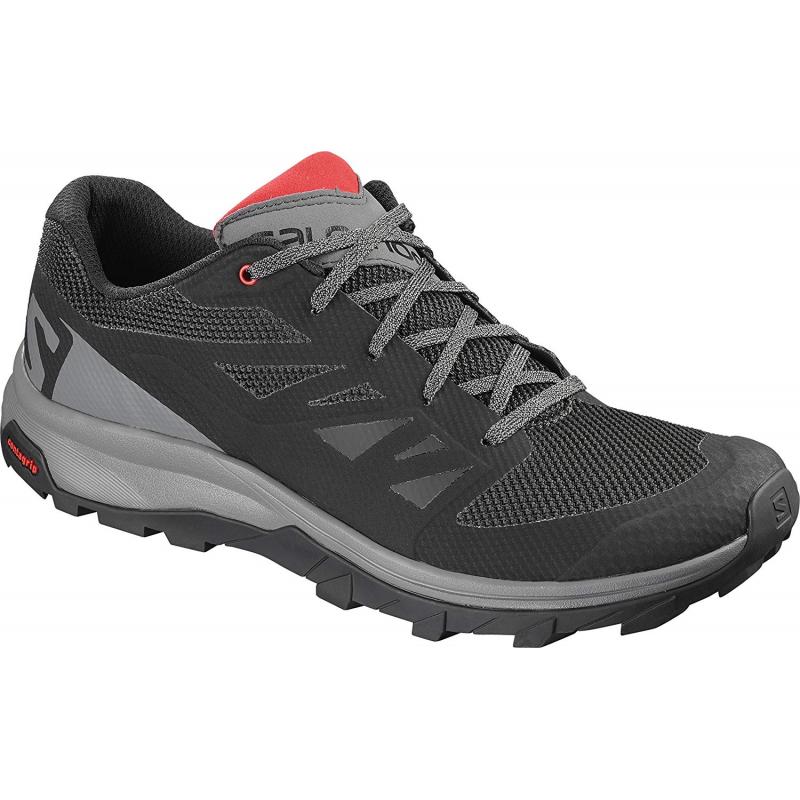 Pánska turistická obuv nízka SALOMON-OUTline black/quiet shad/high risk -