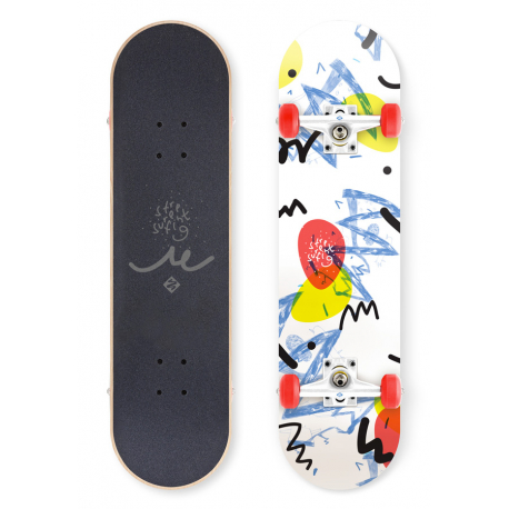"Skateboard STREET SURFING-STREET SKATE 31"" Wall Writer 100 Kg 8+"