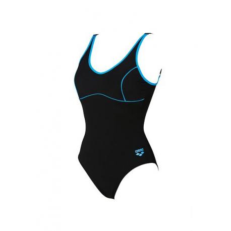 Dámske plavecké jednodielne plavky ARENA-W TANIA CLIP BACK ONE PIECE Black