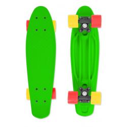 Skateboard FIZZ-BOARD zelený, červeno-žlutý, zelený 80 kg 5+