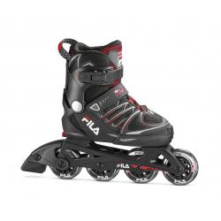 Detské kolieskové korčule FILA SKATES-X-ONE BLACK/RED Black