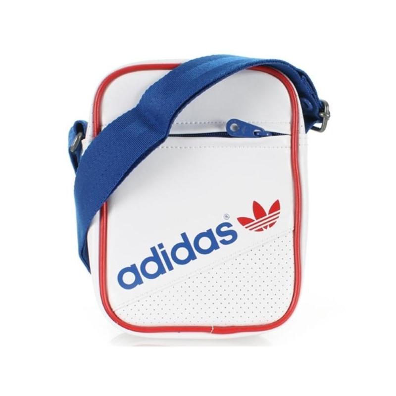 Malá taška cez rameno ADIDAS ORIGINALS-MINI BAG PERF   WHT TRUBLU TORO a14458da527e3
