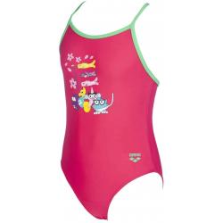 Dievčenské plavecké jednodielne plavky ARENA-AWT KIDS GIRL ONE PIECE