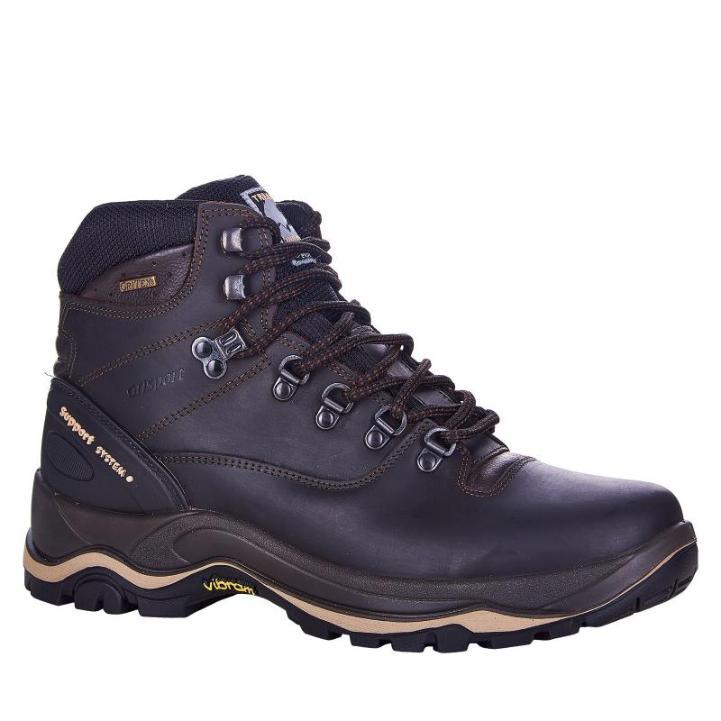 Pánska turistická obuv vysoká GRISPORT-More III dark brown -