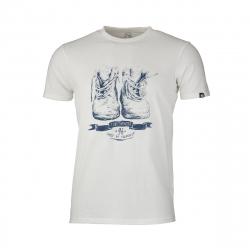 Pánske turistické tričko s krátkym rukávom NORTHFINDER-KRISTJANO-white