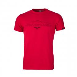 Pánske turistické tričko s krátkym rukávom NORTHFINDER-ANTIN-red